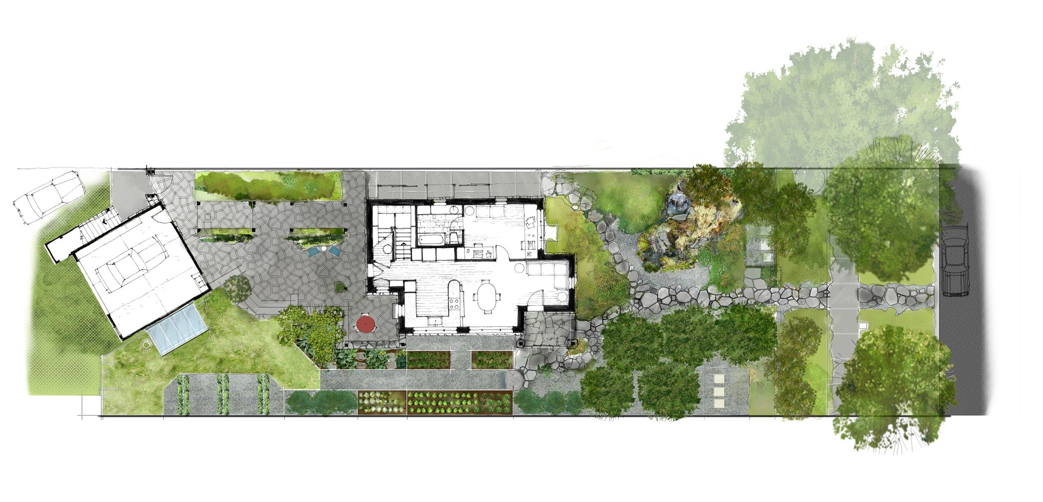 The small elegant and sustainable urban farmstead gallery Home site plan